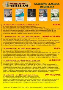 Calendario Teatro Alla Scala.Stagione Classica 2017 2018 Cinema Teatro Castellani Azzate